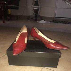 Gucci Scar Pelle S Gomma Heels Size 7.5